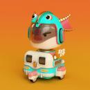 Mi Proyecto del curso: Diseño de personajes en Cinema 4D: del boceto a la impresión 3D. Un proyecto de 3D y Diseño de juguetes de Francisco Vargas - 13.10.2016