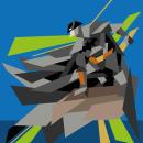 Batman Geometric. Un proyecto de Diseño, Ilustración, Diseño de personajes, Diseño gráfico y Cómic de Edgar Sedeño - 11.05.2016
