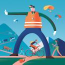 Revista alpina Bergwelten. Un proyecto de Diseño de personajes e Ilustración de Leandro Alzate - 21.11.2016