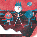 Mi Proyecto del curso: Ilustración original de tu puño, CABIZBAJA y la tableta. Um projeto de Ilustração de Ana María López Correa - 01.02.2016
