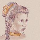 Carrie Fisher (1956-2016). Un proyecto de Diseño, Ilustración y Cine de Nicolás Zancocchia - 26.12.2016