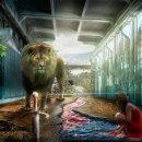Mi Proyecto del curso: Secretos del fotomontaje y el retoque creativo: El León y la chica de rojo. . Un proyecto de Diseño de personajes de Jorge Montoya - 01.01.2017