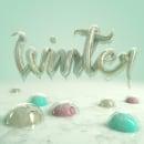 Winter. Un proyecto de 3D, Diseño gráfico, Escritura y Caligrafía de Marina - 15.01.2017