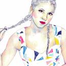 Retrato Lucía Scansetti | ilustración acuarela. Um projeto de Ilustração de Paula Sifora - 07.03.2017