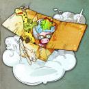 Cardboard Plane - Ilustración. A Design von Figuren und Illustration project by Ademar García - 13.03.2017
