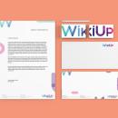 WikiUp - Corporate Branding . Un proyecto de Diseño, Dirección de arte, Br, ing e Identidad, Diseño editorial y Diseño gráfico de Abdiel Hernán - 18.03.2017