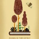 Cartel para El Jardín Botánico de Valencia. Un proyecto de Diseño, Ilustración y Diseño gráfico de Pablo Caracol - 12.11.2016