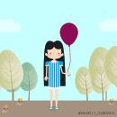 ¿De qué color prefieres tu globo?. Un proyecto de Ilustración de Anabely Sandoval - 11.05.2017