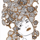 Bubble Girl: Gold. Um projeto de Ilustração e Artes plásticas de María Delgado Prieto - 20.05.2015