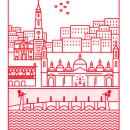 Zaragoza en Iconos. Um projeto de Diseño de iconos, Ilustração e Infografia de Maria Vicente Cordoba - 29.06.2017