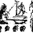 Concept Art - El tío escuálido.. Un proyecto de Diseño, Animación, Diseño de personajes, Bellas Artes, Diseño de juegos, Cómic, Producción y Animación de personajes de Carlos Mercé Vila - 15.07.2017