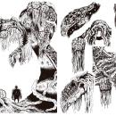 Concept Art - Plantas 'mu' raras.. Un proyecto de Diseño, Ilustración, Dirección de arte, Bellas Artes, Paisajismo, Escenografía, Cómic y Producción de Carlos Mercé Vila - 15.07.2017