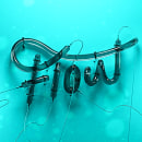 Flow : Lettering 3D Cinema 4D. A 3D, Animation, and Calligraph project by Edgar Islas - 08.17.2017