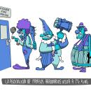 Los payasos hacen una visita sorpresa a Stephen King. Um projeto de Design de personagens e Ilustração de Javier García García de Iturrospe - 22.08.2017
