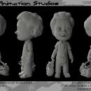 Gabriel,  3D Character. . Un proyecto de Diseño, Ilustración, Cine, vídeo, televisión, 3D, Animación, Dirección de arte, Diseño de vestuario, Cine, Televisión y Animación de personajes de Israel Audelo Ruiz - 02.10.2017
