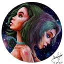 Geminis & Cancer Zodiac Signs. Un proyecto de Diseño, Ilustración, Diseño de personajes, Bellas Artes y Pintura de Adrian Pagador - 11.10.2017