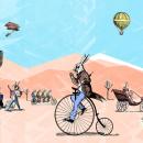 Un domingo en el desierto. Un proyecto de Ilustración de Erick Herrera Velasco - 19.10.2017