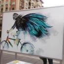 Ilustración colaboradora.Ciudad de las bicis. Zaragoza.. A Illustration project by carmen_navarro - 10.23.2017