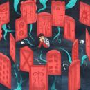 Puertas / Cuento Juvenil. Un proyecto de Ilustración, Dirección de arte y Diseño editorial de Pablo Choca - 24.10.2017