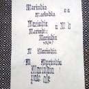 Marindia - mi proyecto de góticas potentes. Un proyecto de Diseño, Tipografía y Caligrafía de maru_b - 04.11.2017