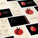 Sistema de identidad y branding para Restaurant Dynasty. Um projeto de Design, Br, ing e Identidade, Design editorial, Design gráfico, Naming e Pattern Design de Ale Fisichella - 26.11.2017