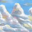 En las nubes. A Illustration project by Oliver Gómez - 08.14.2014