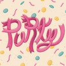 THE PARTY STARTS NOW! · Vector Lettering & illustration. Um projeto de Design, Ilustração, Design gráfico, Lettering e Ilustração vetorial de Mapy D.H. - 06.06.2017
