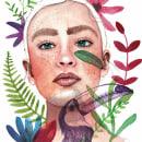 Meu projeto do curso: Retrato ilustrado en acuarela. A Illustration project by Pamela Gomes - 12.14.2017
