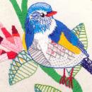 Ilustrando con hilo y aguja: Blue Bird. Um projeto de Ilustração e Artesanato de Omaira Vaquero - 03.01.2018