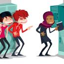 Ayuntamiento de Madrid respecta la diferencia. Contra el bullying. Um projeto de Design de personagens, Ilustração e Infografia de Jorge de Juan - 04.09.2017
