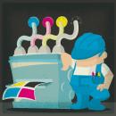 Infografía y creación personajes  Imprenta iBonnet. Um projeto de Design de personagens, Ilustração e Infografia de Jorge de Juan - 04.07.2017