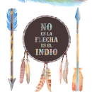 No es la flecha, es el indio!. Un proyecto de Diseño, Ilustración y Lettering de Alejandro Bottini - 17.01.2018
