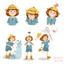 Exploradora. Um projeto de Ilustração, Design de personagens e Ilustração infantil de Susana Gurrea - 12.08.2017
