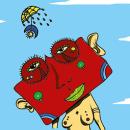Mujer con cabeza cuadrada. Un proyecto de Ilustración vectorial de Chuy Velez - 01.09.2017