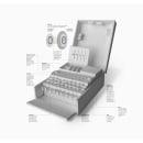 Enigma machine infographic | La máquina Enigma. Un proyecto de Fotografía, Diseño editorial, Diseño gráfico, Arquitectura de la información, Diseño de la información, Infografía, Papercraft, Fotografía de producto e Iluminación fotográfica de Andrés Fernández Torcida - 03.11.2017