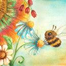 Happy Little Bee. Um projeto de Ilustração de Henar Jiménez Martín de Villodres - 10.05.2018