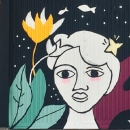 """Mural """"Sirena"""". A Zeichnung, Illustration und Malerei project by SOFÍA ALMAZÁN GAZOL - 22.04.2018"""