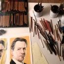Mi Proyecto del curso:  Retrato realista con lápices de colores. Un proyecto de Ilustración, Bellas Artes, Dibujo a lápiz, Dibujo e Ilustración de retrato de Rosa de Gabriel - 06.06.2018