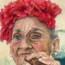 Retrato Hiperrealista Técnica Mixta. Un progetto di Illustrazione, Belle arti, Pittura, Disegno, Pittura ad acquerello e Illustrazione di ritratto di Elizabeth M. - 07.06.2018