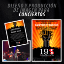 Diseño y Producción de imagen para conciertos. Um projeto de Design gráfico e Publicidade de Chack Robles - 18.05.2018