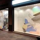 Diseño de Escaparate para Yebra Estilistas . A Illustration, Kunstleitung, Innendesign und Digitale Illustration project by Rebeca Zarza - 25.06.2018