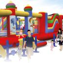 Parque infantil. Un proyecto de 3D e Ilustración de MARCOS GALCERA USTERO - 02.07.2018