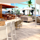 Nueva Area piscina hotel. Um projeto de 3D e Arquitetura de interiores de Isabel Aranda - 01.03.2018