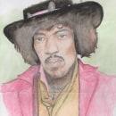 Jimi Hendrix, retrato.. Un projet de Illustration, Beaux Arts, Dessin et Illustration de portrait de Marcela Nuñez - 14.07.2018