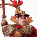 Monkey King Character design. A Character Design, 3D Animation, and Concept Art project by Juan Francisco Cancelleri - 07.25.2018