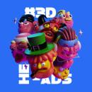 3D Heads. Un proyecto de Ilustración, 3D y Diseño de personajes de Oscar Moctezuma - 31.07.2018