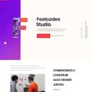 Dirección de arte digital feelcodes.com. Un proyecto de UI / UX, Diseño Web y Desarrollo Web de Julio R. Vokhmianin - 17.08.2018