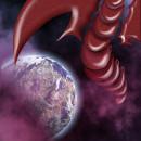 Cosmic dragon. Un proyecto de Ilustración de zoor_marte - 29.08.2018