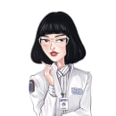 Maniac. Dra. Azumi Fujita. Ilustración. Un proyecto de Ilustración, Diseño de personajes, Dibujo y Concept Art de Paloma G - 09.10.2018