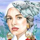 Marina. Un proyecto de Ilustración, Ilustración vectorial, Dibujo, Diseño de carteles, Ilustración digital e Ilustración de retrato de Irina Fokina - 15.10.2018